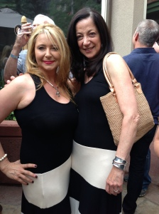 Dianne Burnett and me in our mutual dress from Kalli's Denim right here in town.