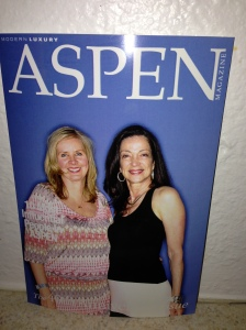Merrilyn Tuma and me at Aspen Magazine party in Social Light photo booth