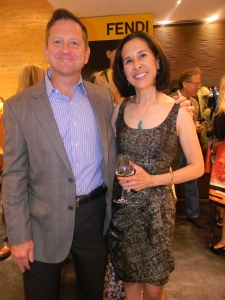 Executive Director of the Buddy Program, David Houggy, with Mona Mazza, Buddy program supporter.