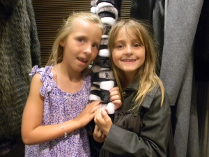 Fashionistas-in-training, Abigail Plummer and Charlotte Kennedy.