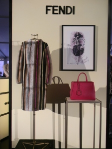 Fendi display at St. Regis Buddy Bash