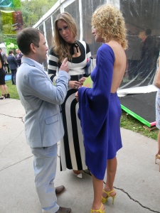Amanda Tapiero, from Greenwich, CT, wearing Marc  Jacobs in blue