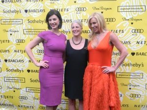 """Mad Men"" actress Jessica Pare, Heidi Zuckerman Jacobsen and Amy Phelan"