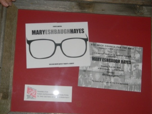 framed composite of invitation to party, presented to Mary