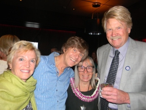 Marisa Peters and her son Mike Peters, John Pennington and Mary