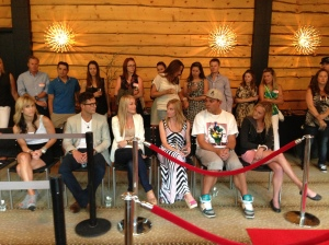 The designers in the front row.