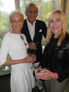 Tina Beriro, wearing Alaia, with her husband Simon Beriro and Gael Neeson.