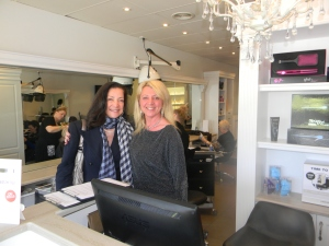 With Mel at fabulous Zumay salon in Mornington getting me ready for the Melbourne Cup!