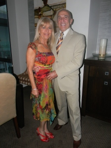 Ann and Vince in Melbourne going to Havana Nights.