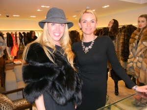 AIFW Director and Wilhelmina Models President Brooke Fogg with Basso mgr. Olga Lukastievich