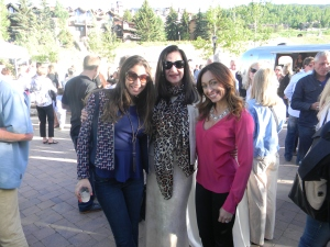 Aspen Magazine party at Snowmass with the girls from Burberry, Andrea Sirko and Michelle Pedinielli