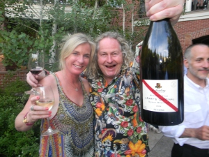 Chester and Kath D'Arenberg at Hyatt Australian wine party
