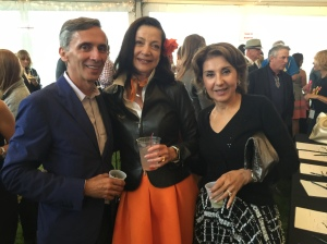 With my wonderful Burberry customers and friends, Shirley and Farzin Lalezari.